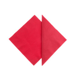 Tovaglioli Tissue Unicolor 25x25 cm Rosso