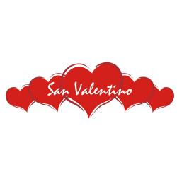 Vetrofania Cuori Rossi San Valentino