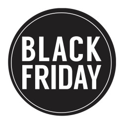 Vetrofania Black Friday Tonda