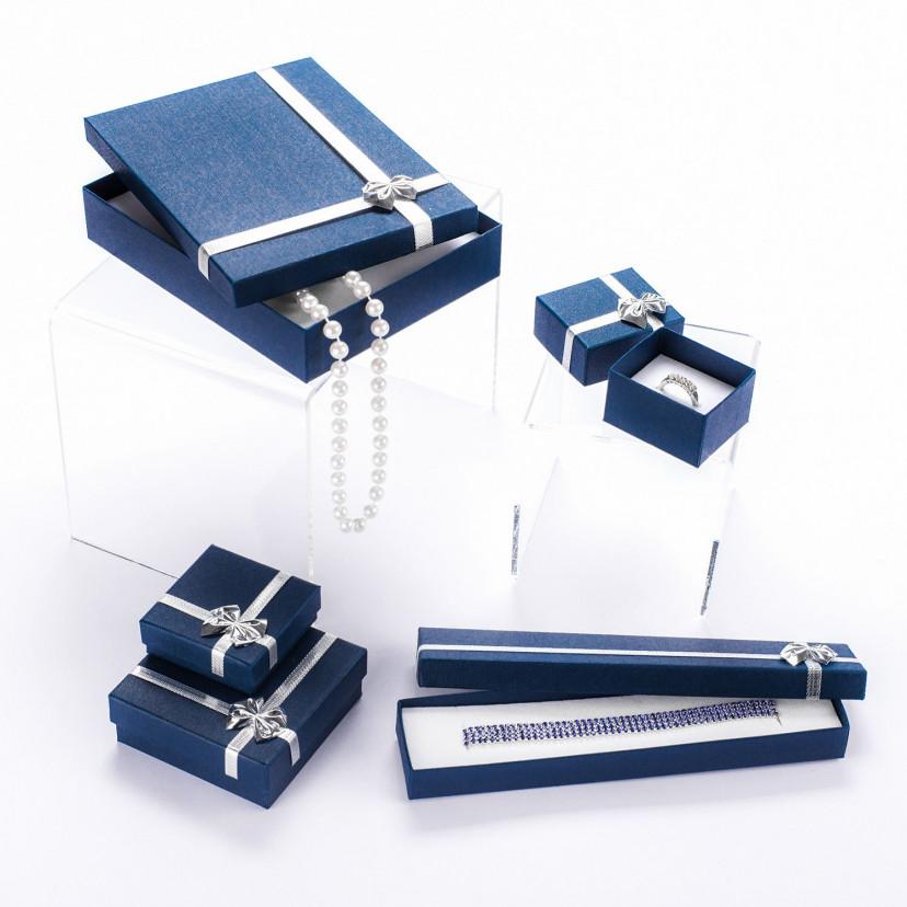Astucci con Fiocchetto Argento Blu