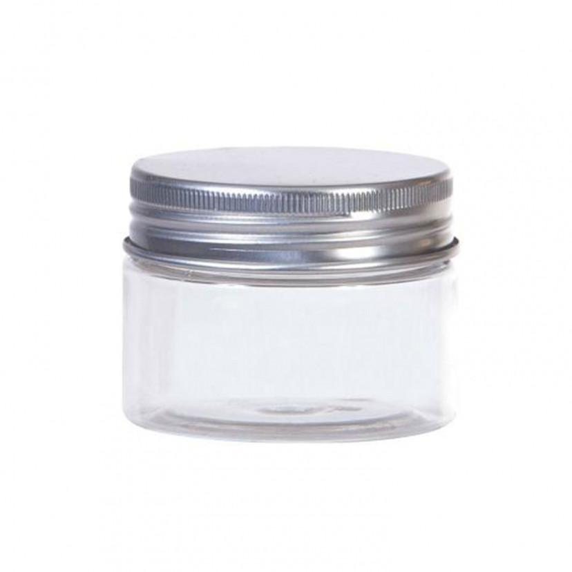 Barattolo Plastica Trasparente con Coperchio