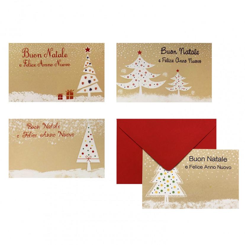Bigliettini Natalizi con Busta Albero di Natale