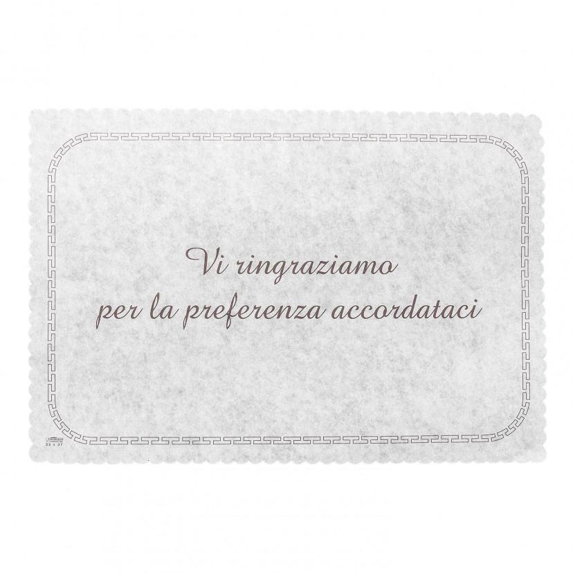 Carta copri paste in carta con scritta Bianco