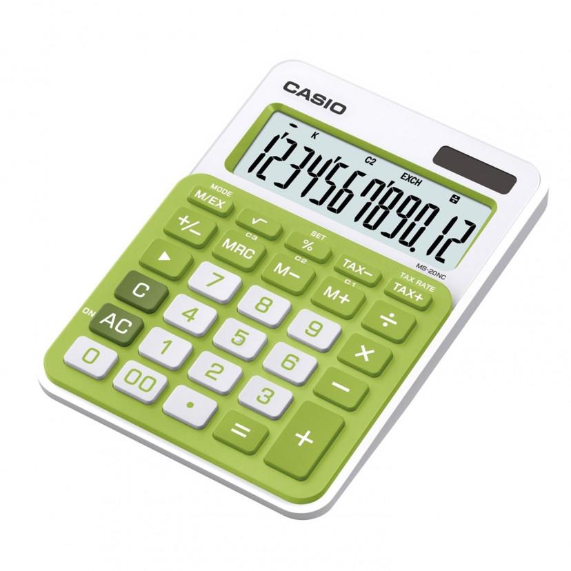 Calcolatrice Casio 12 Cifre Verde
