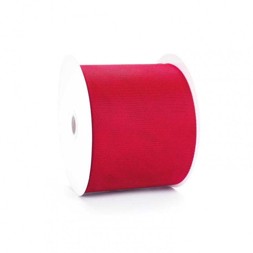 Bobina Tessuto Tulle Rosso