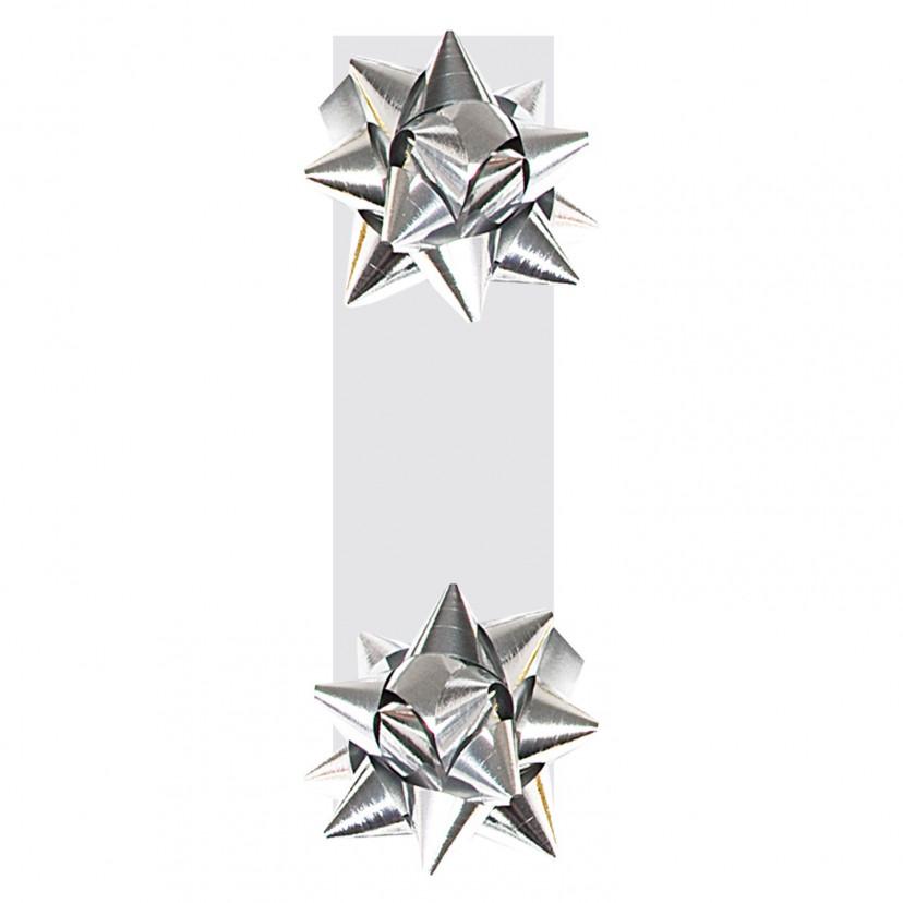 Doppia Coccarda Metal Chiudi-Borsa Argento