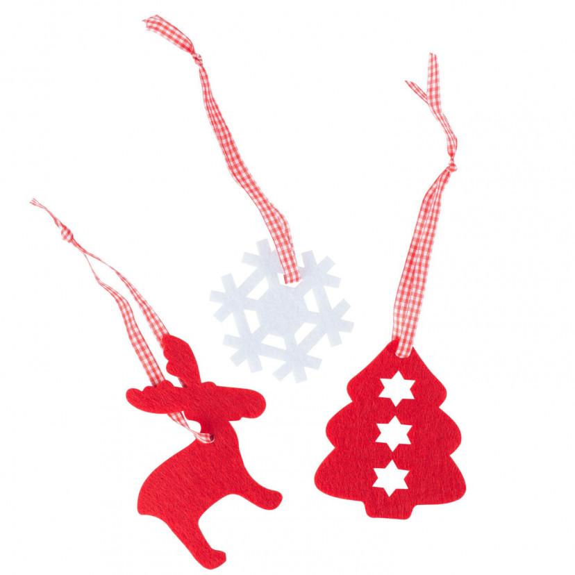 Decorazioni Natale in feltro Mix