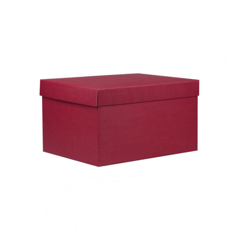 Cubotti Scatola con coperchio Rosso