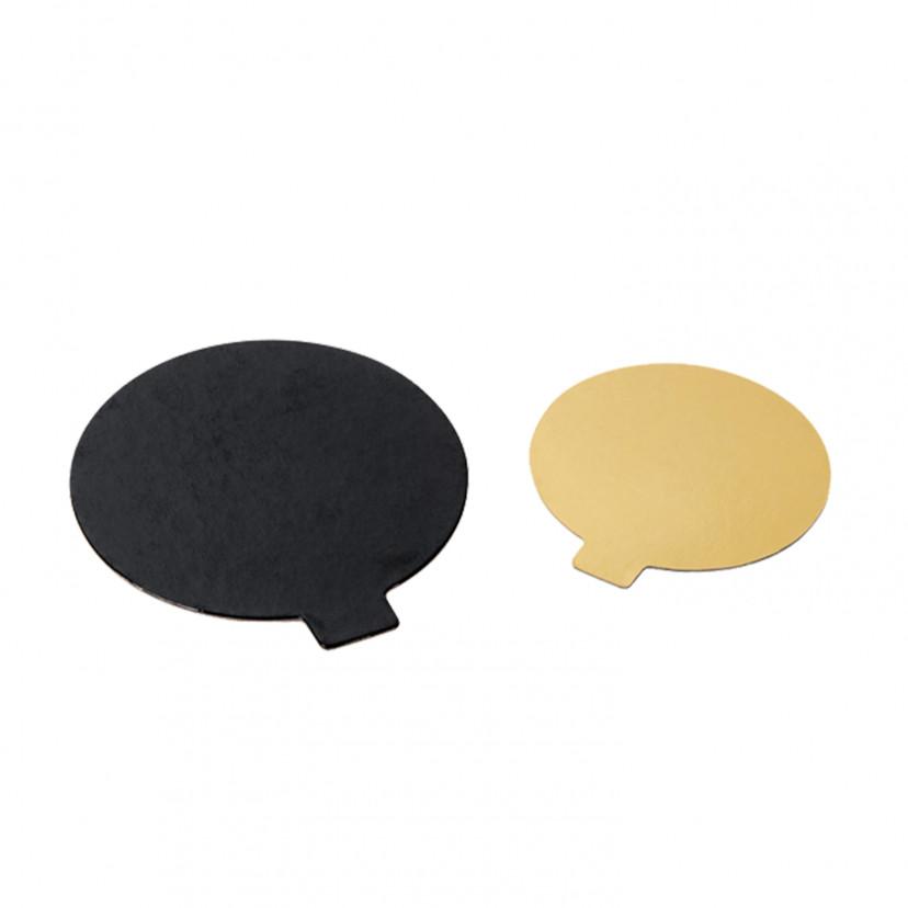 Dischetti sottotorta monoporzione Oro/Nero