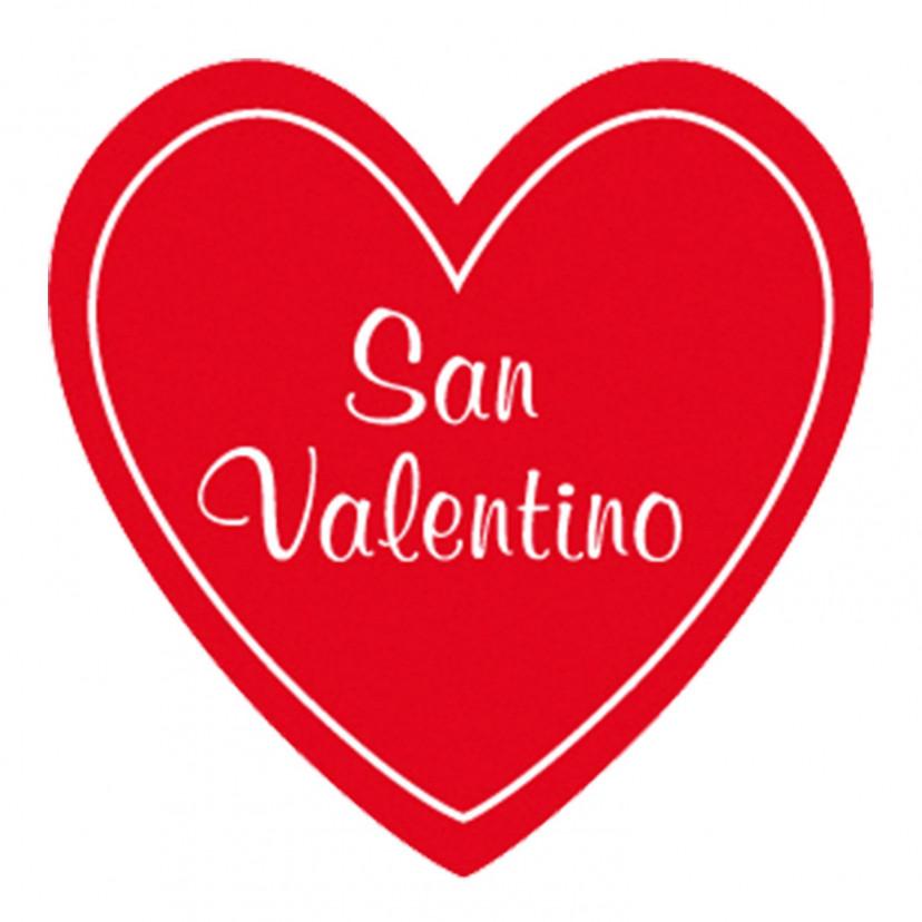 Etichetta Adesiva Cuore San Valentino