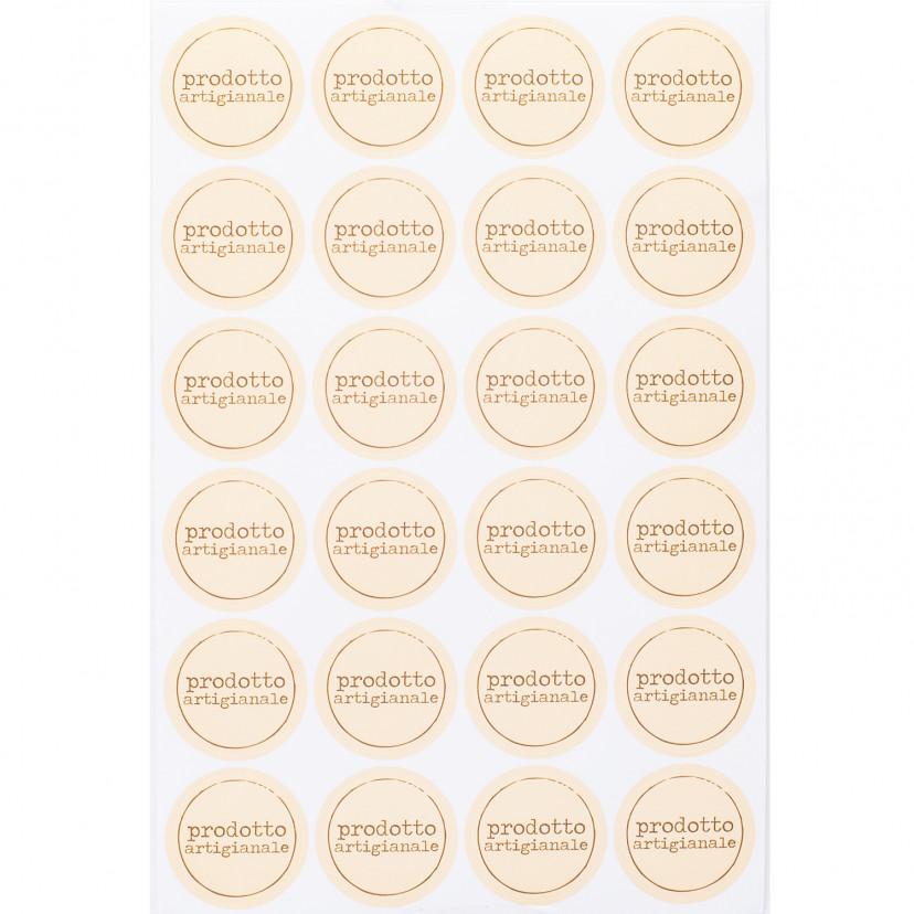 Etichetta Tonda Prodotto Artigianale Crema