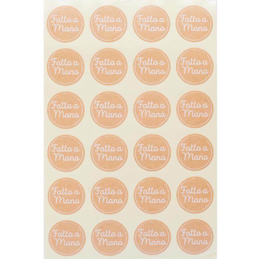 Etichetta Adesiva Fatto a Mano Kraft