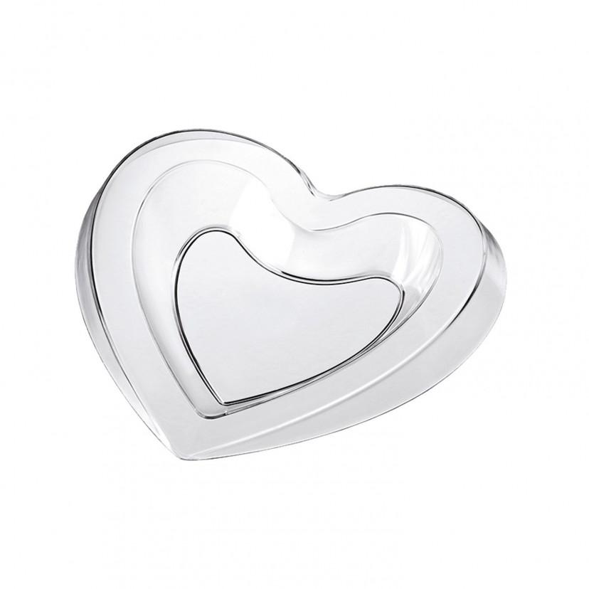 Piattino cuore Trasparente