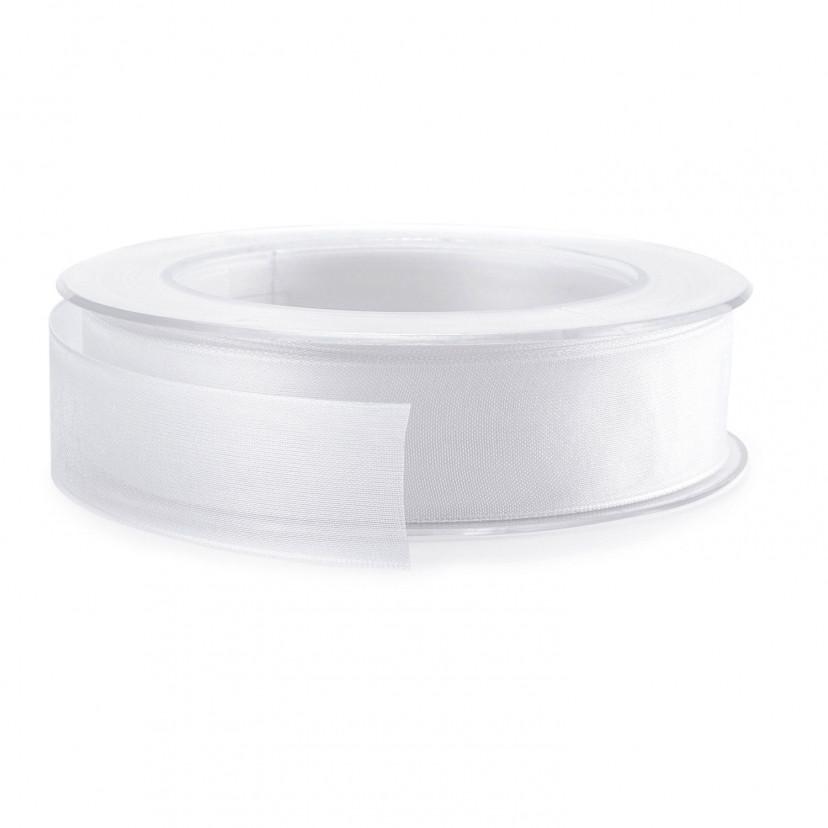 Nastro Organza Animato Bianco