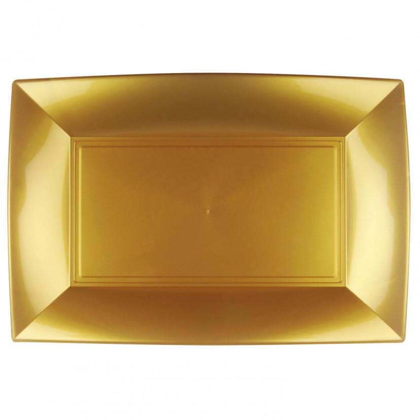 Piatti Plastica Elegance Colorata Oro