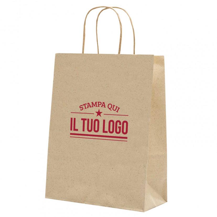 Shopper Carta Erba Naturale Personalizzata