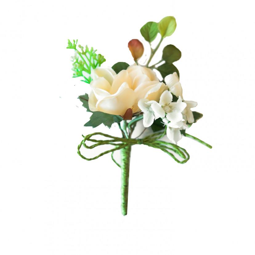 Pick Rosa con Fiori Avorio