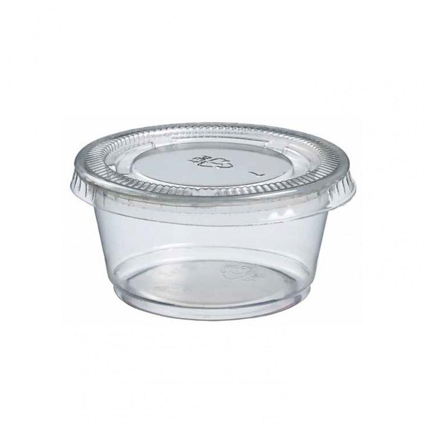 Porta Salse in Plastica con Coperchio Ermetico