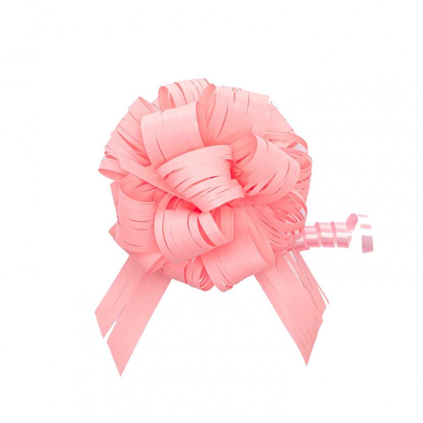 Coccarda Raphia Pull Bow Quarzo Rosa