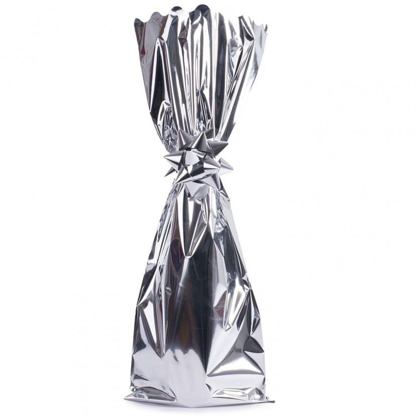 Sacchetti Portabottiglie metal lucido Argento