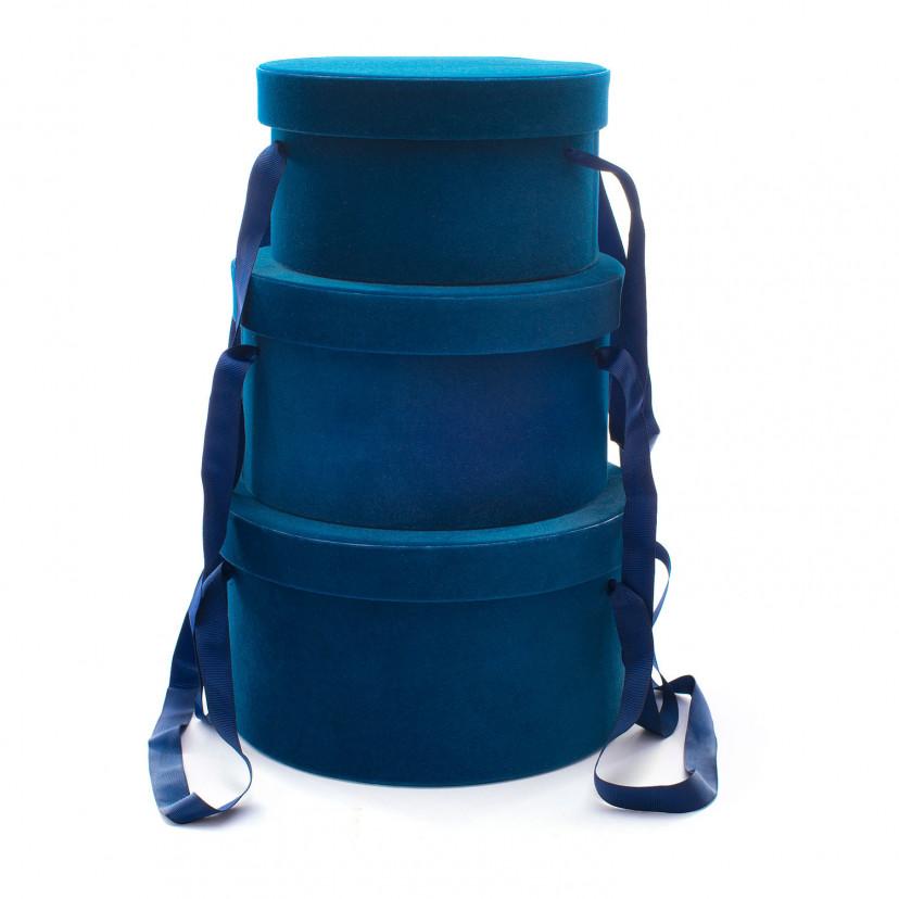 Set Cappelliere in Velluto Blu