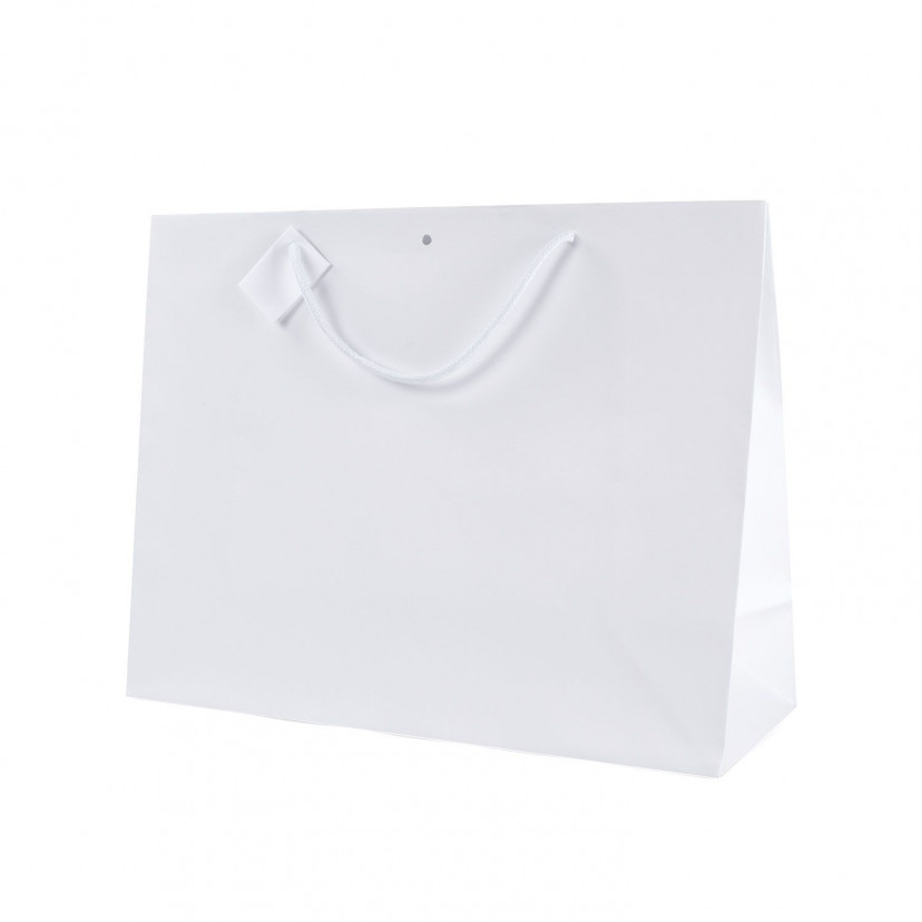 Shopper Carta Lusso Opaca orizzontale Bianco
