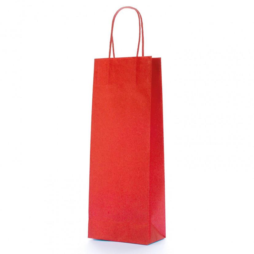 Shopper Carta Biokraft Portabottiglie Rosso