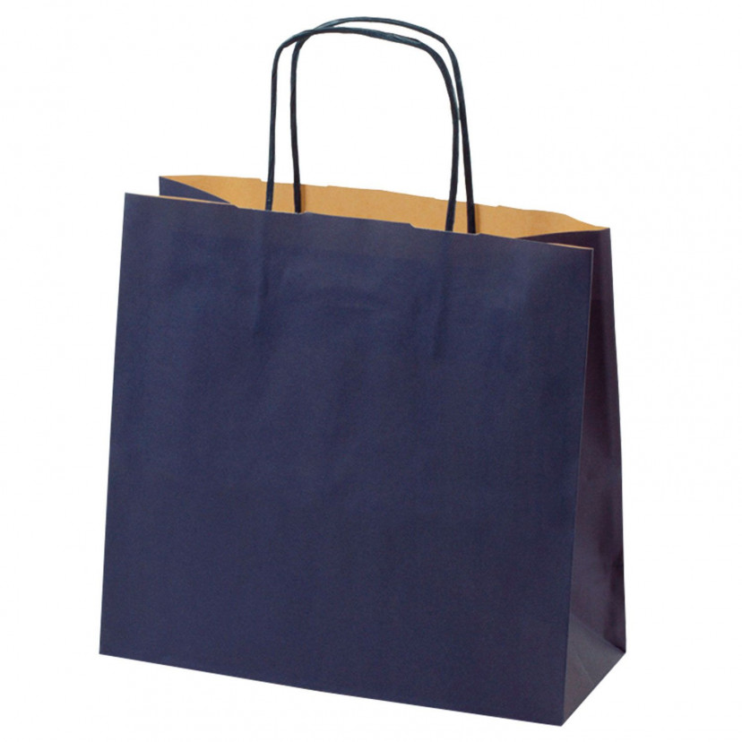 Shopper Carta Kraft Colorata Blu