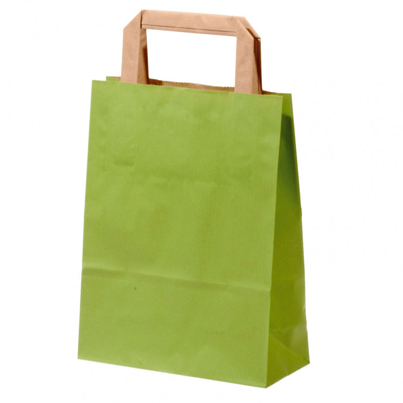 Shopper Carta Sealing Colorata Verde Chiaro
