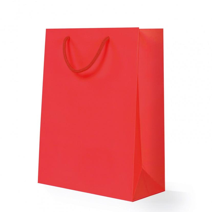Shopper Carta Lusso Opaca Rosso