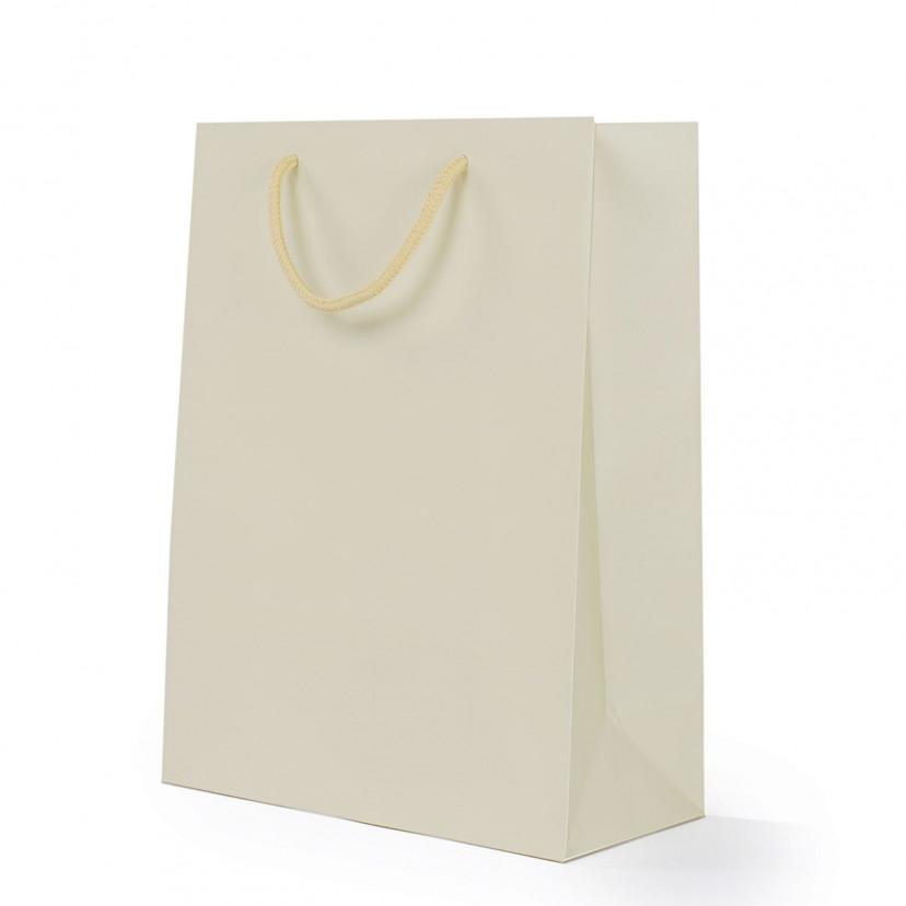 Shopper Carta Lusso Opaca Sabbia