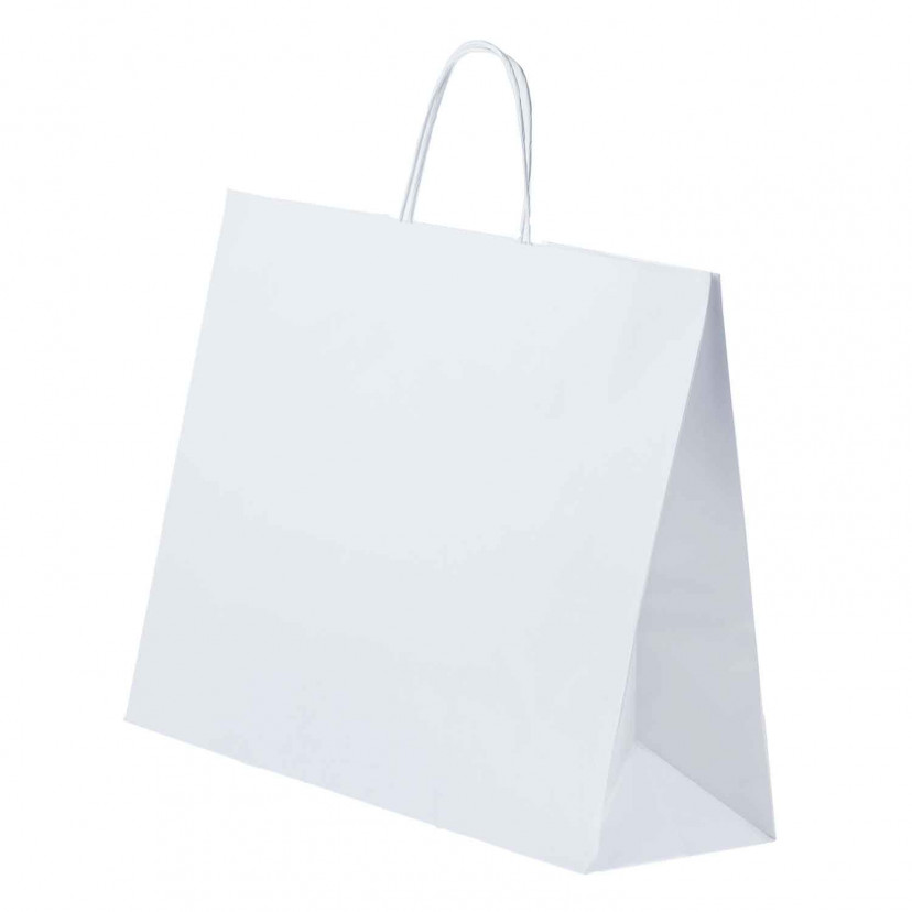 Shopper Carta Kraft cordino Bianco