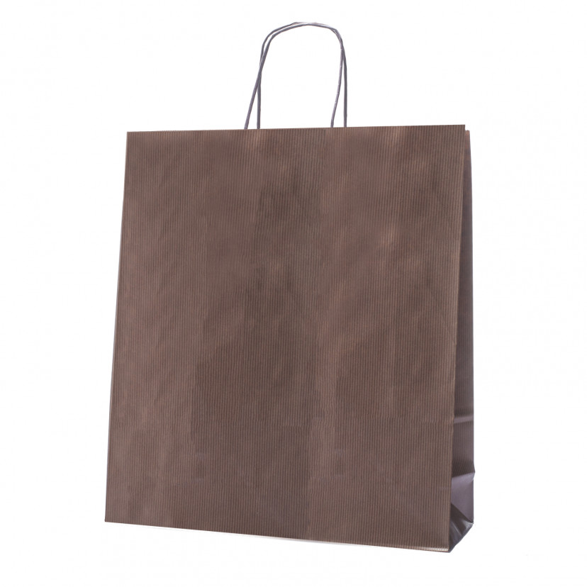 Shopper Carta Sealing Dark Marrone