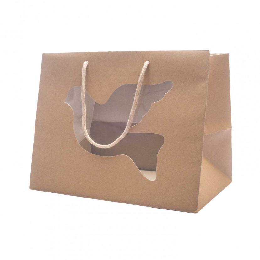 Shopper Pasticceria con Finestra Avana
