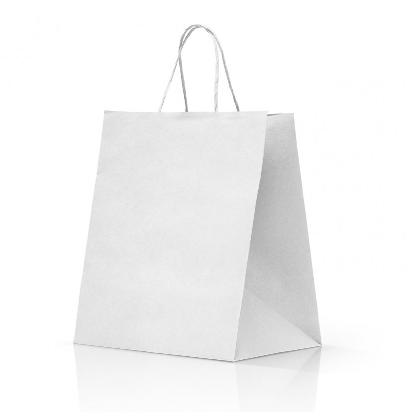 Shopper Take Away Manico Cordino Bianc