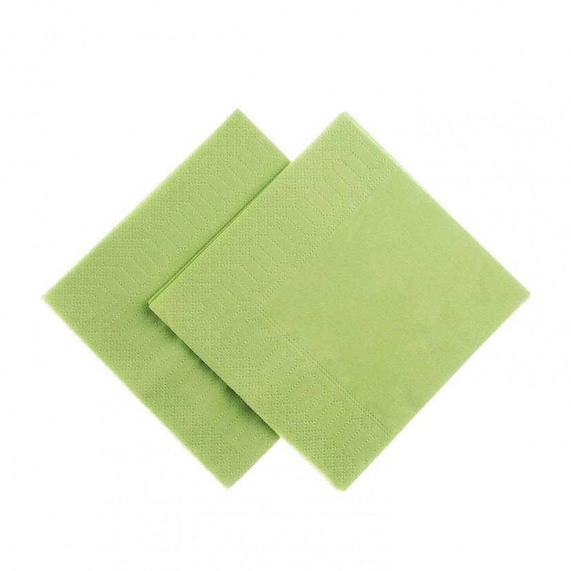 Tovaglioli Tissue Unicolor 25x25 cm Verde Chiaro