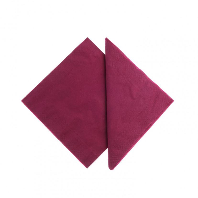 Tovaglioli Tissue Unicolor 25x25 cm Bordeaux