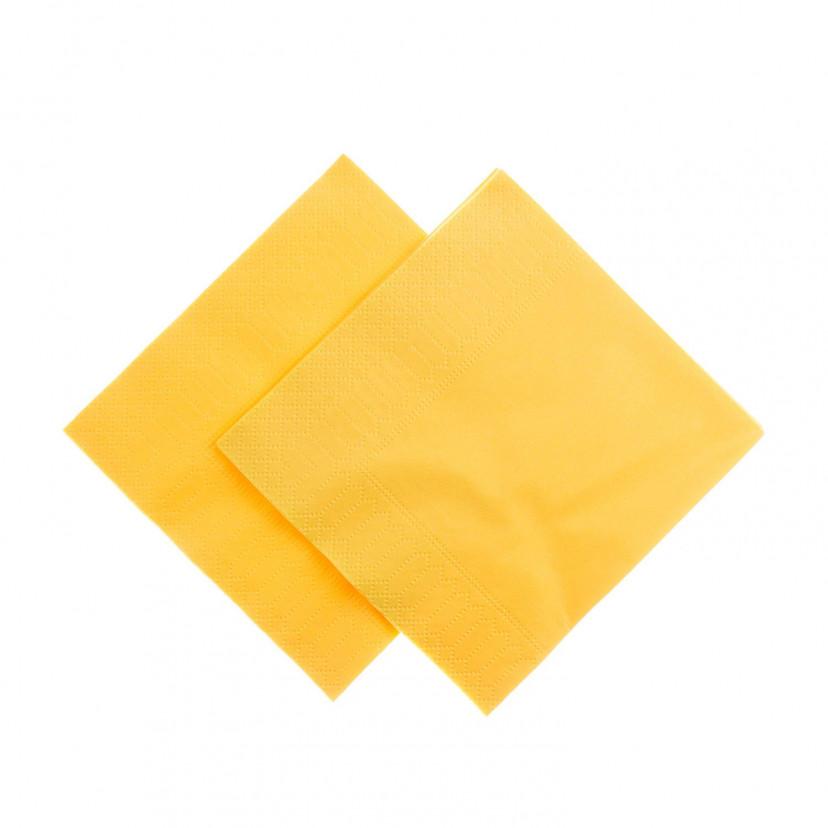 Tovaglioli Tissue Unicolor 25x25 cm Giallo
