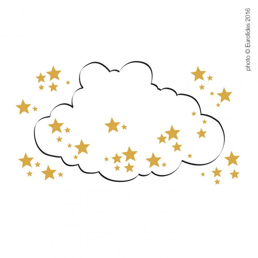 Vetrofania Nuvola con Stelline