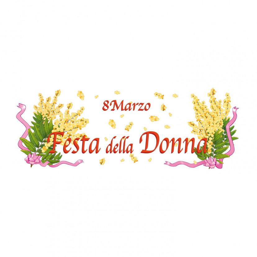 Vetrofania Festa della Donna