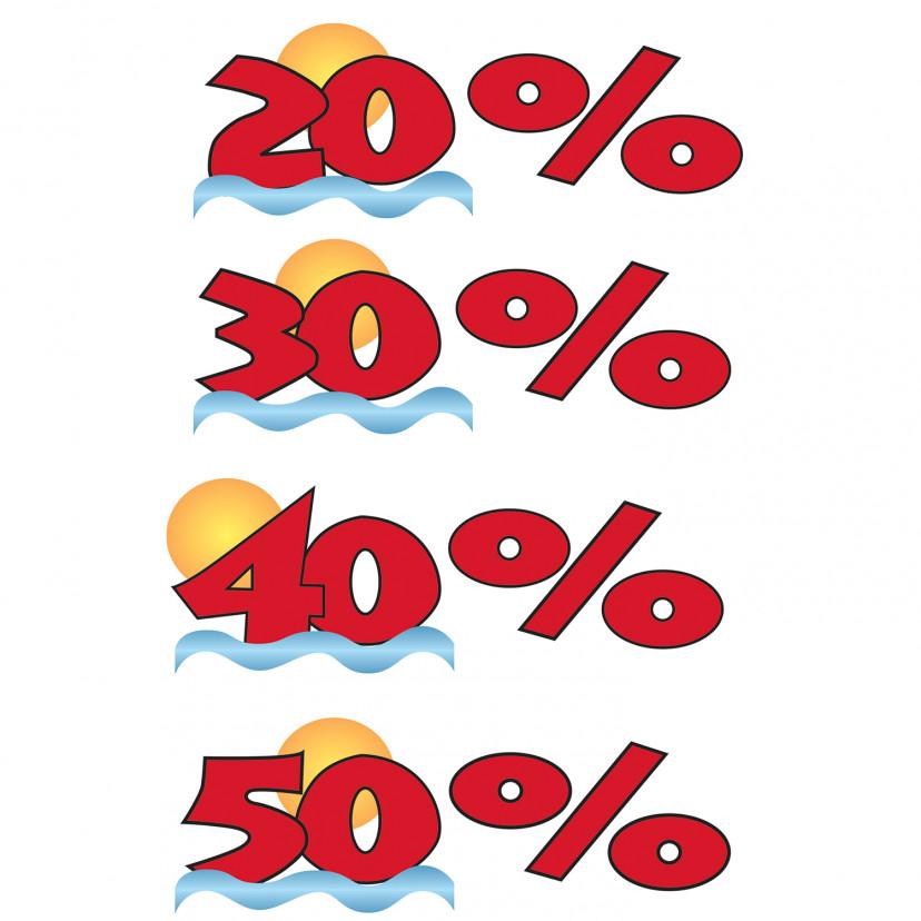 Vetrofania Sconto Percentuale con Sole