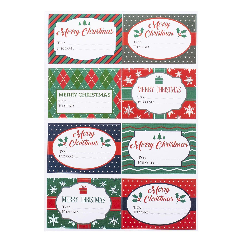 Etichette Natalizie Da Stampare etichetta adesiva christmas gift