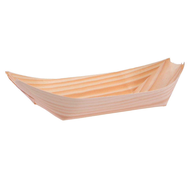 barchetta in legno di balsa per finger food eurofides
