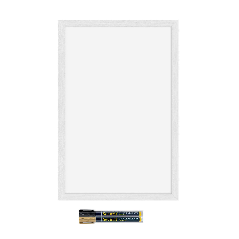 Come Pulire Parete Lavagna lavagna da parete con cornice bianco
