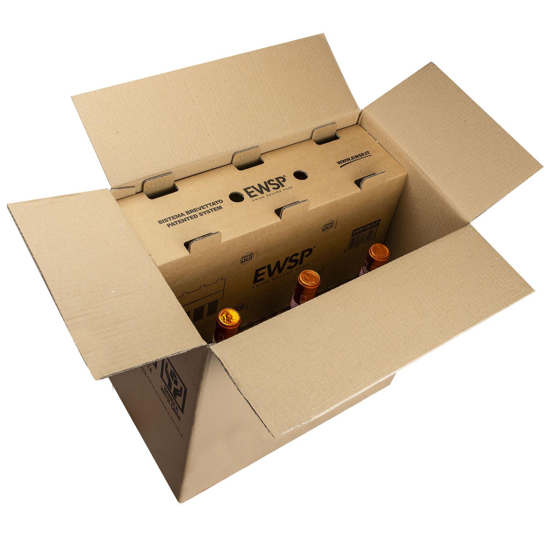 46b21577d8 ... Scatola EWINE SECURE PACK® per Spedizione Bottiglie Avana