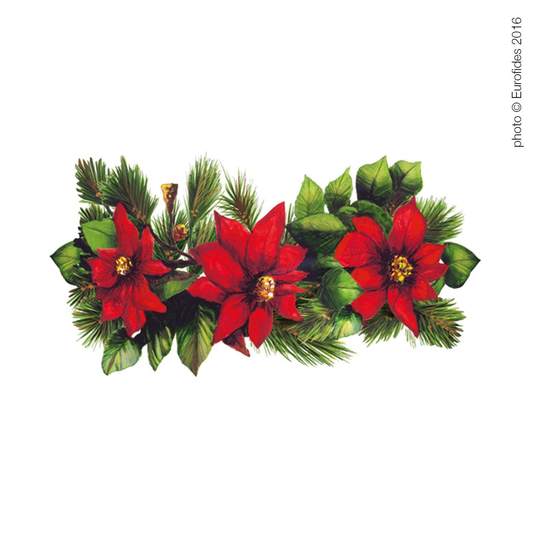 Vetrofania natalizia con stelle di natale per vetrina - Stelle di natale ...