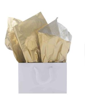Carta Velina Metal Oro