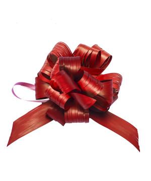 Coccarda Raphia Pull Bow Rosso