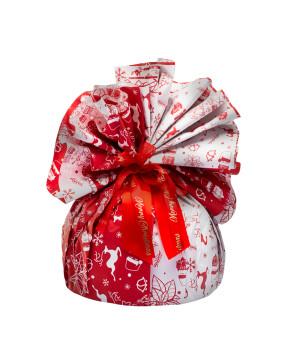 Fogli Tondi per Panettone Happy Xmas Rosso
