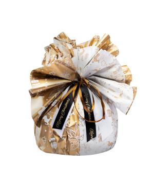 Fogli Tondi per Panettone Happy Xmas Oro
